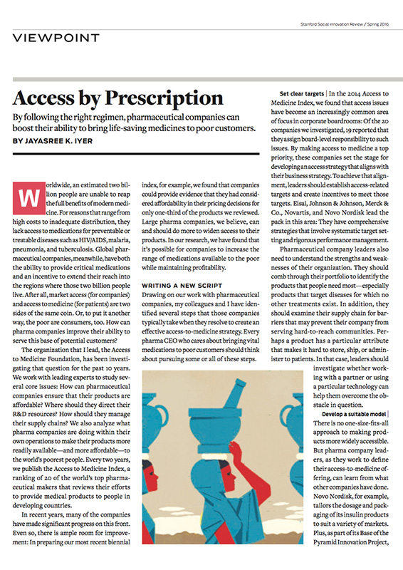 Stanford Social Innovation Review: Access By Prescription