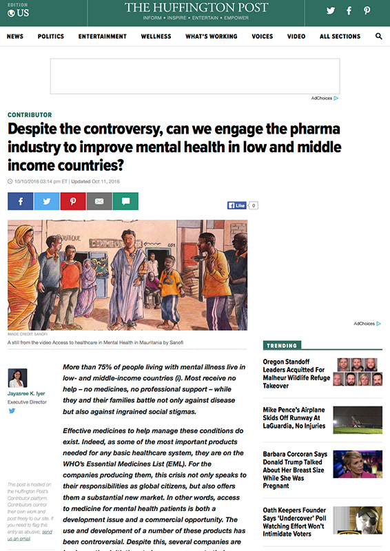 Access To Mental Healthcare: How Should Pharma Companies Channel Their Efforts?