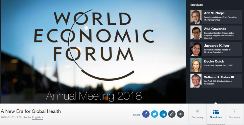 """Live WEF discussion with Bill Gates & Jayasree Iyer at 1pm CET: """"New"""