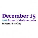 2016 Access To Medicine Index Investor Briefing Hosted By Amundi Asset Management