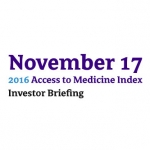 2016 Access To Medicine Index Investor Briefing Hosted By Goldman Sachs