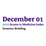 2016 Access To Medicine Index Investor Briefing Hosted By ICCR And AllianceBernstein